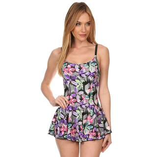 Dippin Daisy's Pink Hawaiian One Piece Swimdress