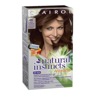 Clairol Natural Instincts Vibrant Permanent Hair Color 4R Cherry Chestnut Dark Auburn