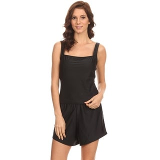 Dippin' Daisy's Solid Black Over the Shoulder Tankini