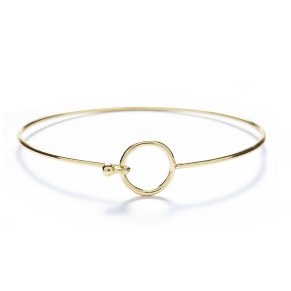 18k Gold Overlay Circle Bangle