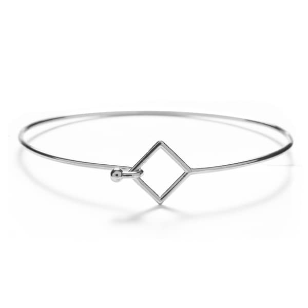 Silver Overlay Square Bangle