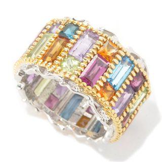 Michael Valitutti Eternity Multi Gemstone Ring