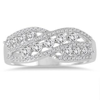 Marquee Jewels 10k White Gold 5/8ct TDW Diamond Fashion Ring (I-J, I2-I3)