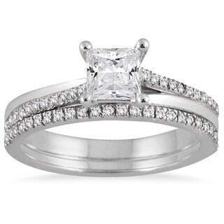 Marquee Jewels 14k White Gold 1ct TDW Diamond Bridal Set (I-J, I1-I2)