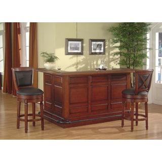 Whitaker Furniture Manchester Burnished Oak Bar Mirror Set 15514634 Shopping