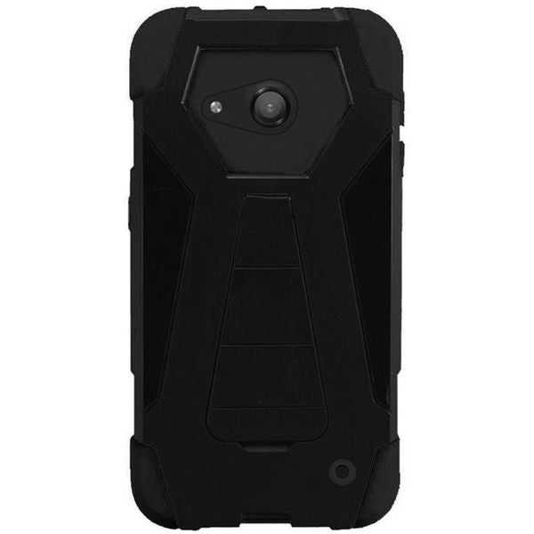 Insten Black Hard PC/ Silicone Dual Layer Hybrid Case Cover with Stand For Microsoft Lumia 550