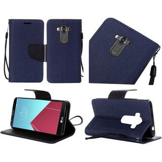 Insten Leather Case Cover Lanyard with Stand For LG G4 Pro/V10