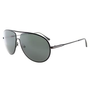 Tom Ford Cliff TF 450 02N Matte Black Aviator Metal Sunglasses