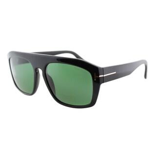 Tom Ford Conrad TF 470 01N Shiny Black Rectangle Plastic Sunglasses