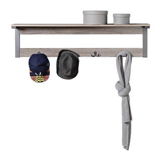 Homestar Wall Mounted Shelf with 4 Hooks