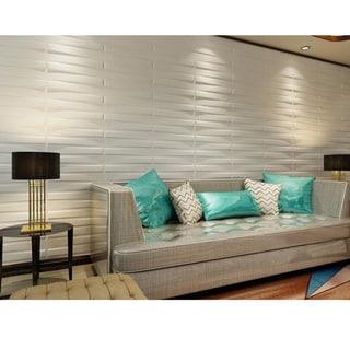 Bridge Design Set of 10 Plant Fiber 3D Wall Panels (26.67 square feet)