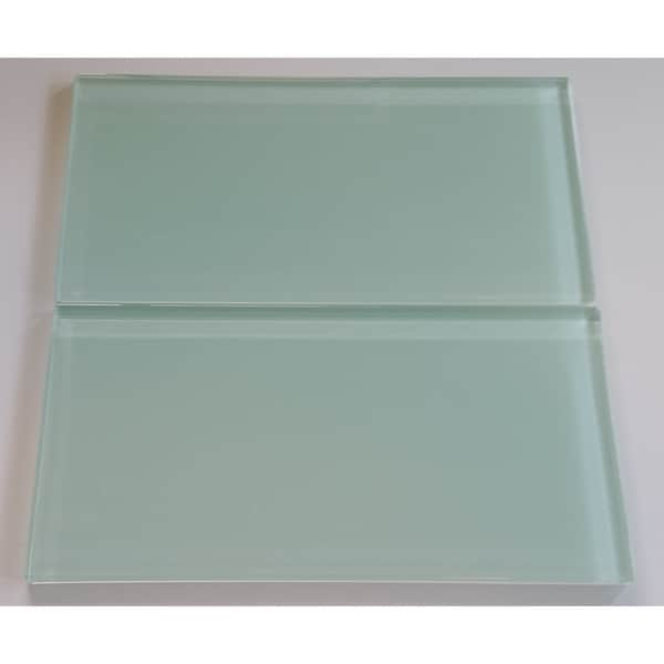 Surf Green 6x12 Lush Glass Subway Tile