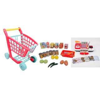 Gi-Go Toy Deluxe Shopping Cart and Cash Register Set