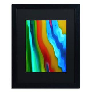 Amy Vangsgard 'River Runs Through Vertical 2' Matted Framed Art
