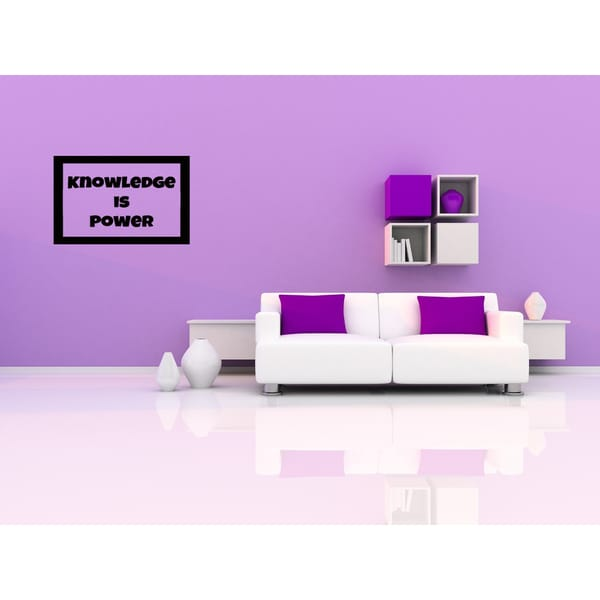 Knowledge is Power in frame Wall Art Sticker Decal