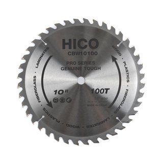 HICO CBW10100 10-inch 100-tooth ATB Thin Kerf General Purpose Saw Blade with 5/8-inch Arbor and Anti-corrosive Coating