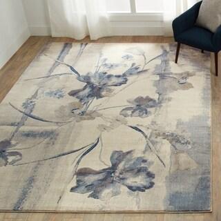 Nourison Somerset Ivory Blue Rug (5'3 x 7'5)