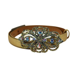 Orciani Gold Leather Women's 31-inch Belt