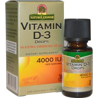 Nature's Answer 0.5-ounce Vitamin D-3 Drops 4000 IU