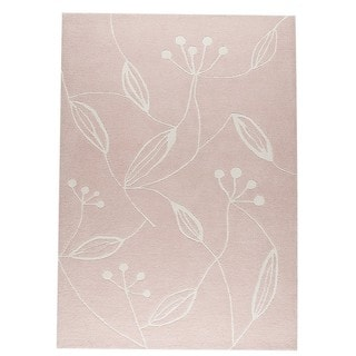 M.A.Trading Indian Hand-tufted Flora Pink Rug (4'6 x 6'6)