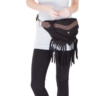 The Fringed Eco Traveler Cotton Hip Bag Belt (India)
