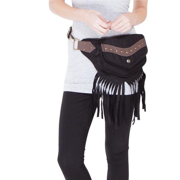 The Fringed Eco Traveler Cotton Hip Bag Belt (India)