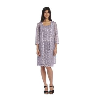 R&M Richards Women's Lace Coat Dress
