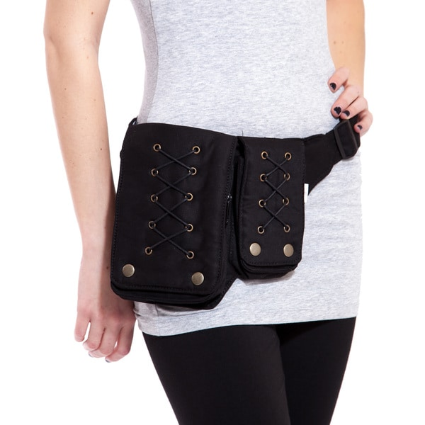 The Victorian Corset Lace Cotton Hip Bag Belt (India)