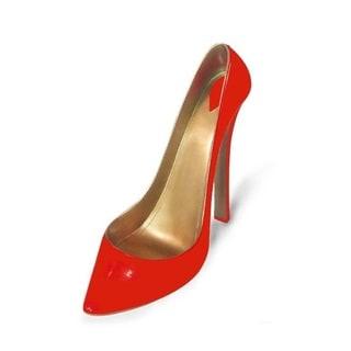 Elegance Tangerine Stiletto Shoe Bottle Holder