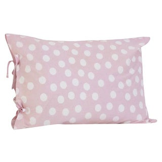 Poppy Plain Pillowcase with Ties