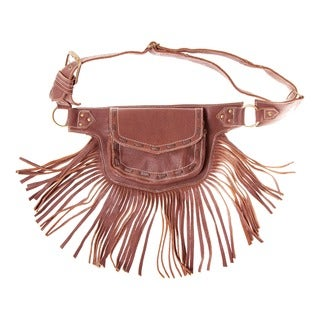 The Funky Fringe Traveler Leather Hip Bag Belt (India)