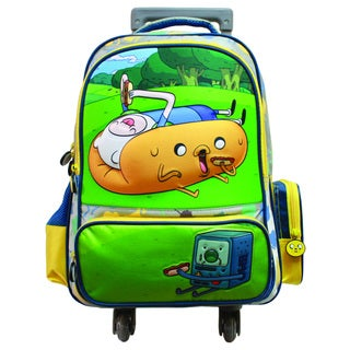 Adventure Time Hotdog Jake and Finn Rolling Backpack