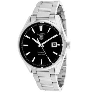 Tag Heuer Men's WAR211A.BA0782 Carrera Round Silver-tone Stainless Steel Bracelet Watch