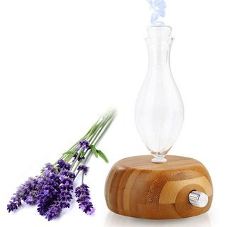Pleasant Essential Oil Glass Nebulizing Diffuser with Bamboo Base