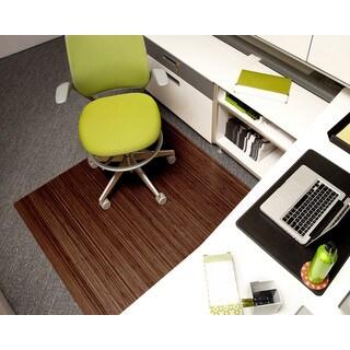Eco Bamboo Roll-up Rectangular Walnut Chair Mat