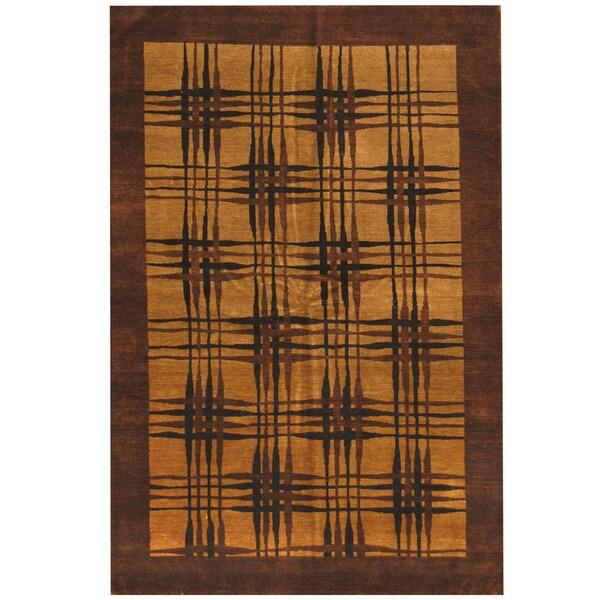 Herat Oriental Indo Hand-knotted Tibetan Wool Rug (5'8 x 8'4) 17802573