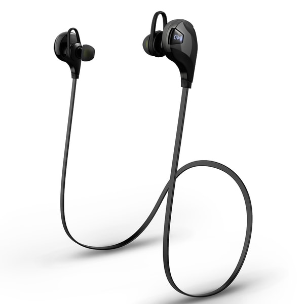 Bluetooth V4.0 Black Headphone Headset with Microphone