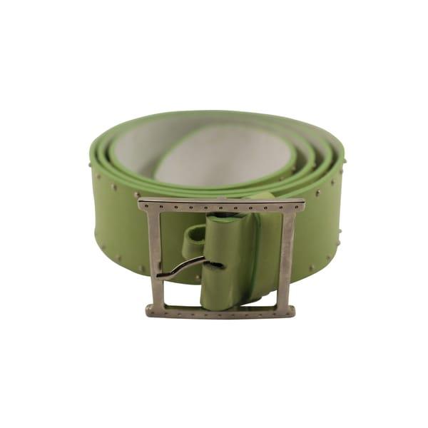 Orciani Green Leather Women's 36-inch Belt