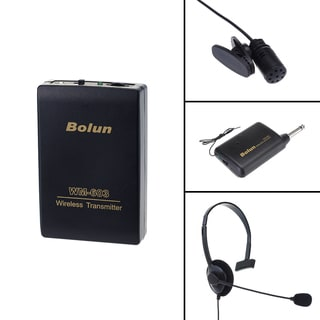 Patuoxun Remote Wireless Stage Microphone Headset with Receiver