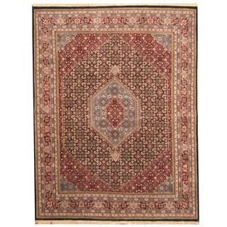 Herat Oriental Indo Hand-knotted Bidjar Navy/ Red Wool Rug (8'1 x 10'5)