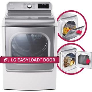LG DLGX7701WE 9.0 cu.ft. MEGA Capacity TurboSteam Dryer with EasyLoad Door in White