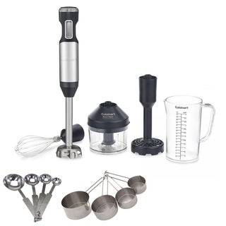 Cuisinart CSB-100 Smart Stick Variable Speed Hand Blender with Stainless Steel Spoon/Cups Set