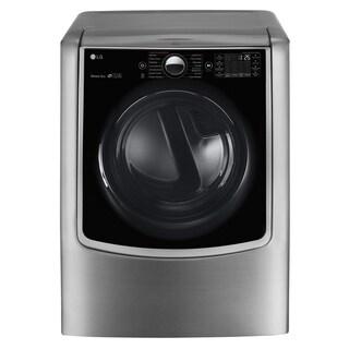 LG DLGX9001V 9.0 cu.ft. MEGA Capacity TurboSteam Gas Dryer with On-Door Control Panel in Graphite Steel
