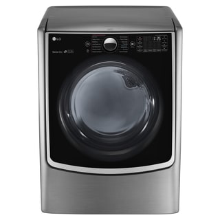 LG DLGX5001V 7.4 cu.ft. Ultra Large Capacity TurboSteam Gas Dryer with On-Door Control Panel in Graphite Steel