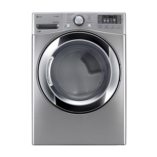 LG DLGX3371V 7.4-cubic Feet Ultra Large Capacity SteamDryer with NFC Tag On (Gas) in Graphite Steel