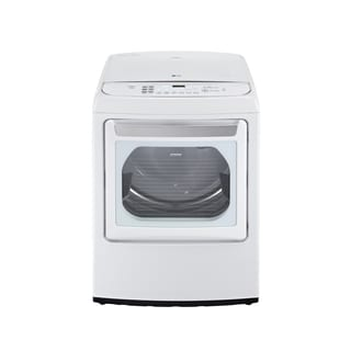 LG DLGY1702WE 7.3-cubic Feet Ultra Large Capacity High Efficiency Front Control SteamDryer with EasyLoad Door in White