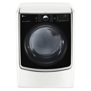 LG DLGX5001W 7.4 cu.ft. Ultra Large Capacity TurboSteam Gas Dryer with On-Door Control Panel in White