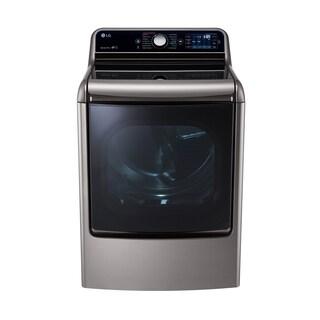LG DLEX7700VE 9.0 Cu. Ft. Mega Large Capacity TurboSteam Dryer With EasyLoad Door in Graphite Steel