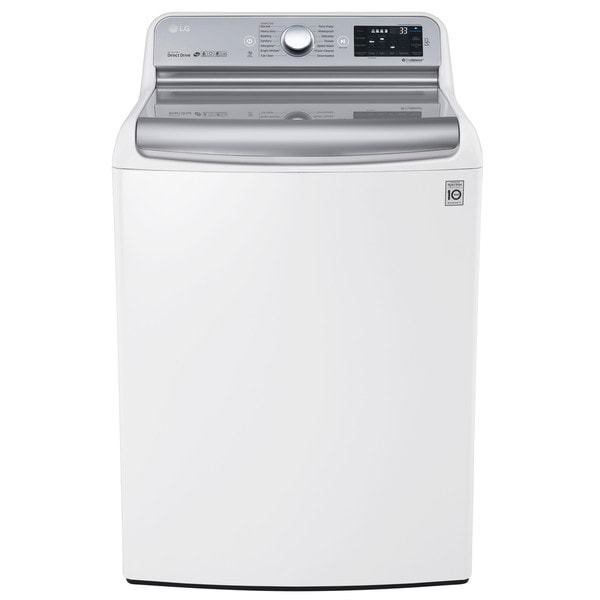 LG WT7700HWA 5.7 Cu.Ft. Mega Capacity Top Load Washer With TurboWash Technology in White 17803263