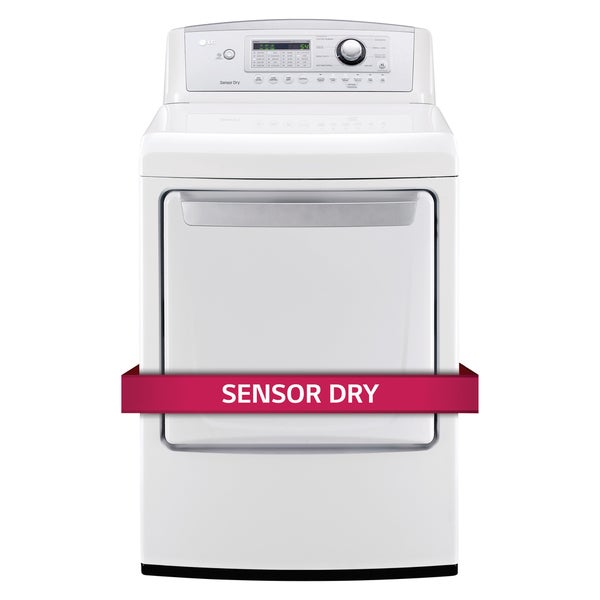 LG DLE4970W 7.3-cubic Feet Ultra Large High Efficiency Dryer with Sensor Dry Technology in White